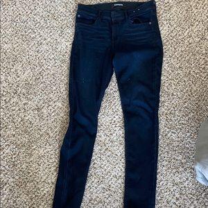 Dark blue Express jeans